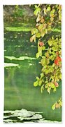 Leaves And Water Bath Towel