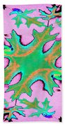 Leaves In Fractal Bath Towel
