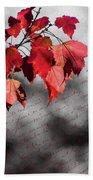 Leaves Of Red Bath Towel