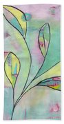 Leaves On Abstract Background Bath Towel