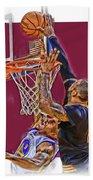 Lebron James Cleveland Cavaliers Oil Art Bath Towel