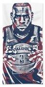 Lebron James Cleveland Cavaliers Pixel Art 54 Bath Towel
