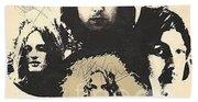 Led Zeppelin Autographed Album  Hand Towel