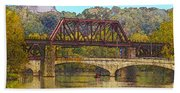 Lehigh River - Easton Pa Bath Towel