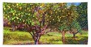 Lemon Grove Of Citrus Fruit Trees Bath Towel