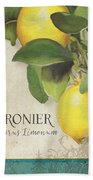 Lemon Tree - Citronier Citrus Limonum Bath Towel