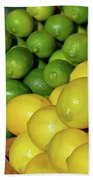 Lemons And Limes At Market Bath Towel