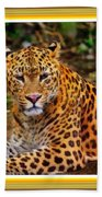 Leopard Beauty Catus 1 No. 1 L A With Decorative Ornate Printed Frame Bath Towel
