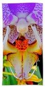 Leopard Dragon Orchid Bath Towel