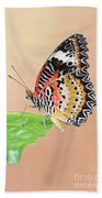 Leopard Lacewing Butterfly #2 V2 Bath Towel