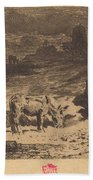 Les Anes De La Butte-aux-cailles (donkeys At La Butte-aux-cailles) Bath Towel