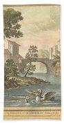 Les Poissons Et Le Cormoran (the Fish And Thecormorant) Bath Towel