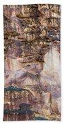 Leslie Gulch Cliff Vertical Bath Towel