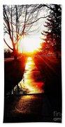 Let The Sun Light Your Path Bath Towel