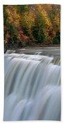Letchworth Falls Sp Middle Falls Bath Towel