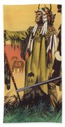 Lewis And Clark Expedition Scene Bath Towel