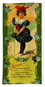 Libbys Bookmark Vintage With Girl On Beach Bath Towel