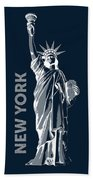Liberty, New York, Popart Bath Towel