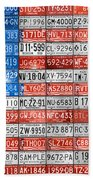 License Plate Flag Of The United States Bath Towel