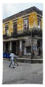 Life In Old Town Havana Bath Towel