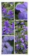 Light Purple Flowers Collage Bath Towel