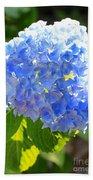 Light Through Blue Hydrangeas Bath Towel