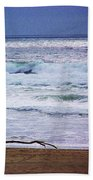 Light Waves To Sand Bath Towel