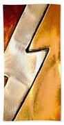 Lightening Bolt Abstract Posterized Bath Towel