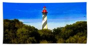 Lighthouse Of Saint Augustine Bath Towel