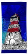 Lighthouse Stained Glass  Bath Towel
