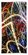 Lightpainting Single Wall Art Print Photograph 3 Bath Towel
