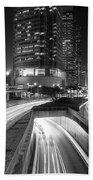 Lights Of Hong Kong Bath Towel