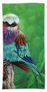 Lilac-breasted Roller Bath Towel