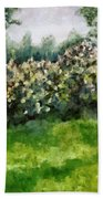 Lilac Bushes In Springtime Hand Towel