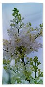 Lilac Flowers Bath Towel