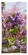 Lilacs And Dogwoods Bath Towel