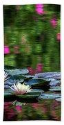 Lilies And Crape Myrtle Bath Towel