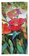Lilies And Hummingbird Bath Towel