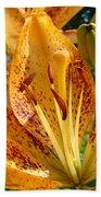Lilies Art Prints Orange Lily Flowers 2 Gilcee Prints Baslee Troutman Bath Towel