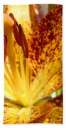 Lilies Glowing Orange Lily Flower Floral Art Print Canvas Baslee Troutman Bath Towel