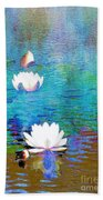 Lilies In Abstract Bath Towel
