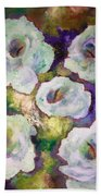 Lily Garden With Shadows And Light Bath Towel