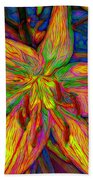 Lily In Abstract Bath Towel