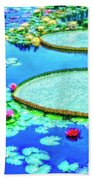 Lily Pond 2 Bath Towel