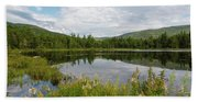 Lily Pond - White Mountains, New Hampshire Bath Towel