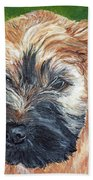 Lily, Soft Coated Wheaten Puppy Bath Towel