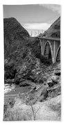 Lime Creek Bridge Highway 1 Big Sur Ca B And W Bath Towel