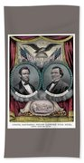 Lincoln And Johnson Election Banner 1864 Bath Towel