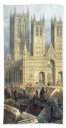Lincoln Cathedral From The North West Bath Towel