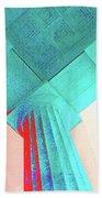 Lincoln Column Blue Bath Towel
